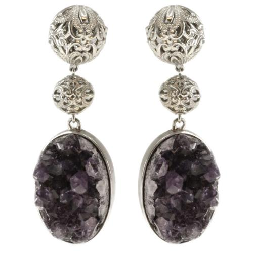 Dallas Prince   Amethyst Druzy Earrings