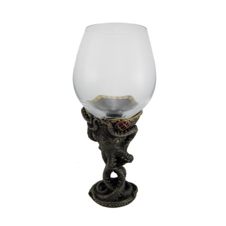 Bronze Finish Steampunk Deep Sea Diver Octopus Wine Glass