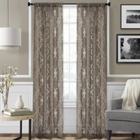 Elrene Home Fashions Montego Geometric Sheer Rod Pocket Single Curtain Panel