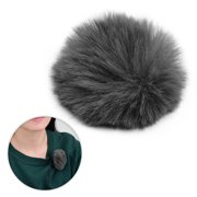 Suzicca Clip-on Lavalier Microphone Windscreen Furry Windshield Mic Muff Compatible with Boya M1 and Other Most Lapel Microphones