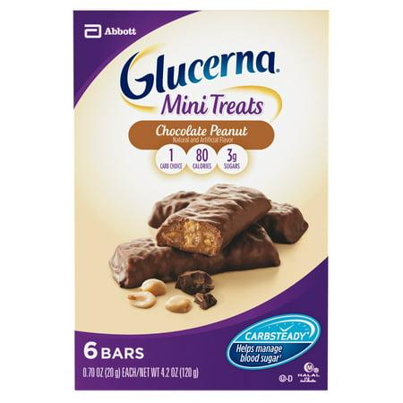 Glucerna Mini Treat Bars, To Help Manage Blood Sugar, Chocolate Peanut, 0.70 oz, 6 count](Chocolate Rice Krispie Treats Halloween)