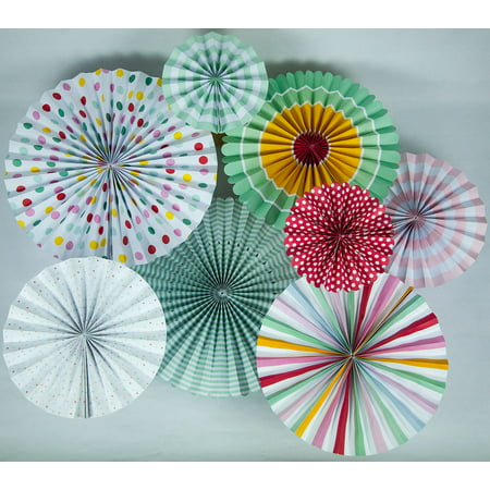 Quasimoon Easter Paper Flower Pinwheel Backdrop Party Wall Decoration Combo Kit by - Paper Pinwheel