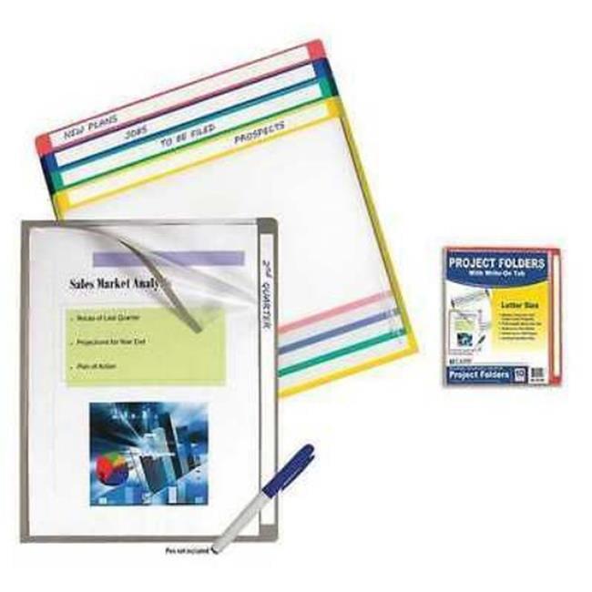 C-LINE 62190BNDL5PK Write-on Project Folders - Clear