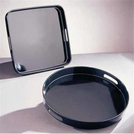 Laquer Tray (Ten Strawberry Street BLKRD 13.5 in. Lacquer Round Tray - Pack of 2)