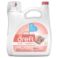 Dreft Stage 1: Newborn Baby Liquid Laundry Detergent, 100 oz