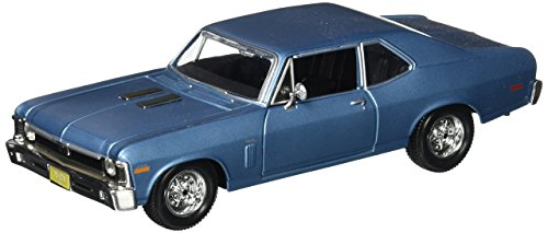 Maisto 1970 Chevrolet Nova SS Coupe Hard Top 1 24 Scale Diecast Model Car Blue by
