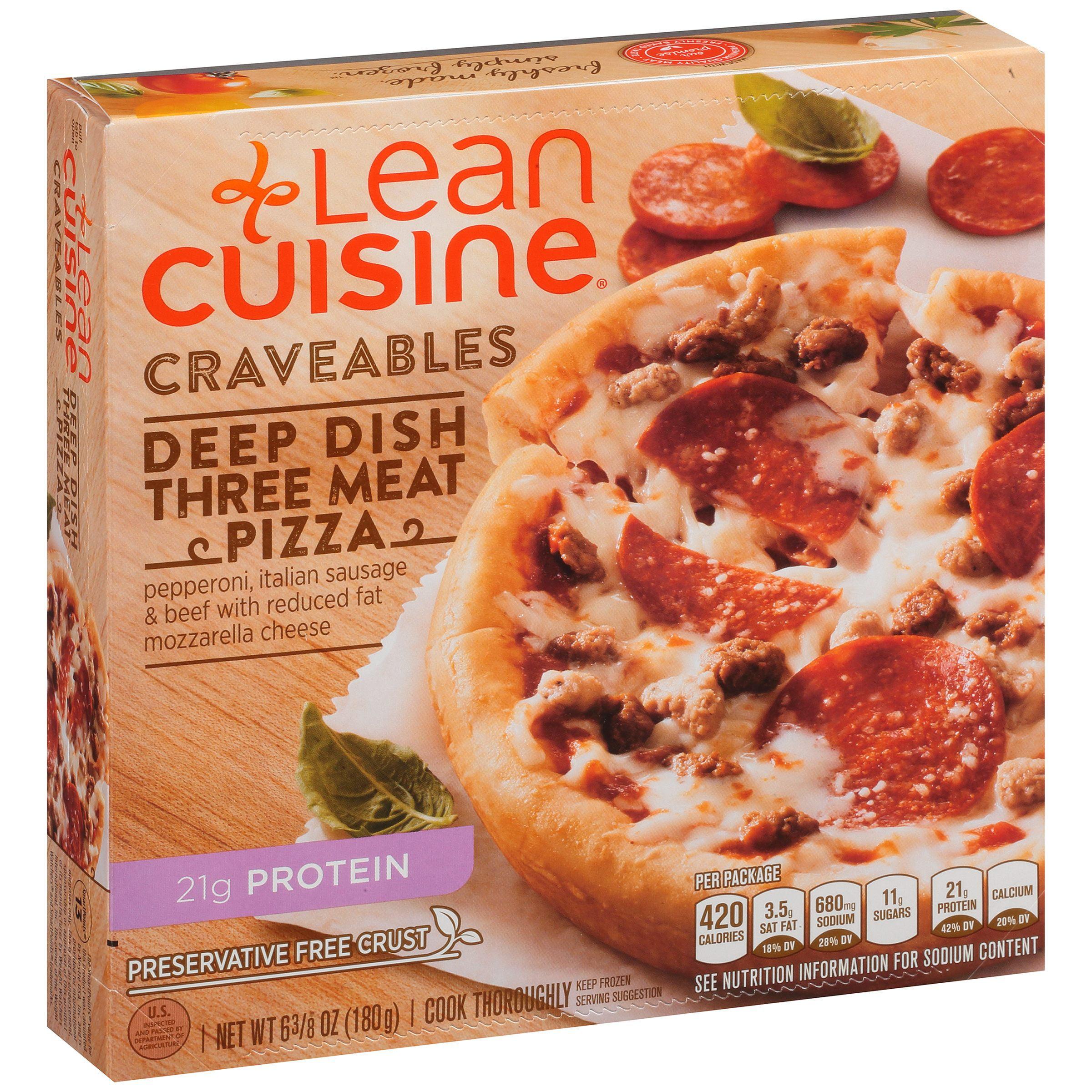 LEAN CUISINE Craveables Deep Dish Three Meat Pizza 6.375 oz Box