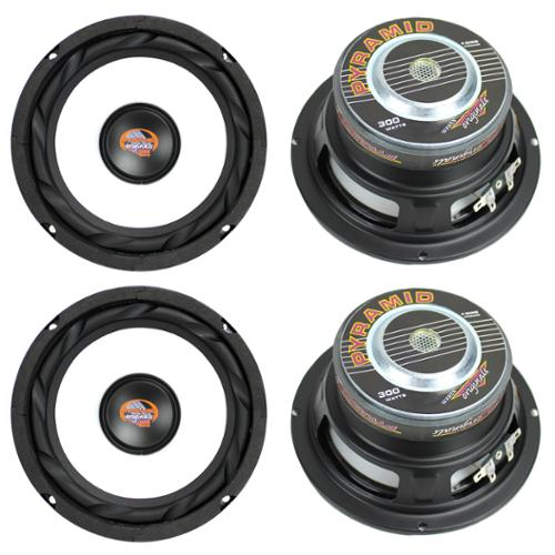 """4)  PYRAMID WX65X 6.5"""" 1200W Car Audio Subwoofers Subs Power Woofers 4 Ohm"""