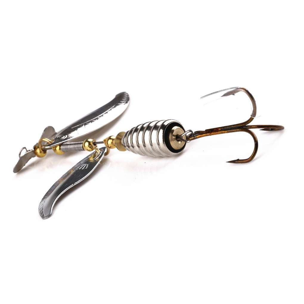 1-10PCS 10cm//14.8g Spinner Bait Hooks Tackle Alloy Rotating Sequins Fishing Lure