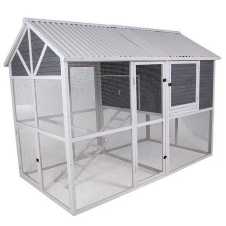 Precision Pet Products Garden Walk-In Chicken Coop with Nesting Box and Roosting Bar ()