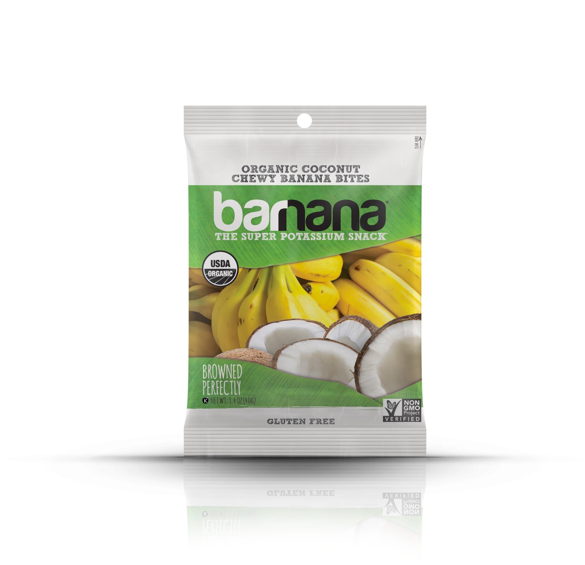 Barnana Organic Chewy Banana Bites, Coconut, 1.4 Ounce, 12 Count by