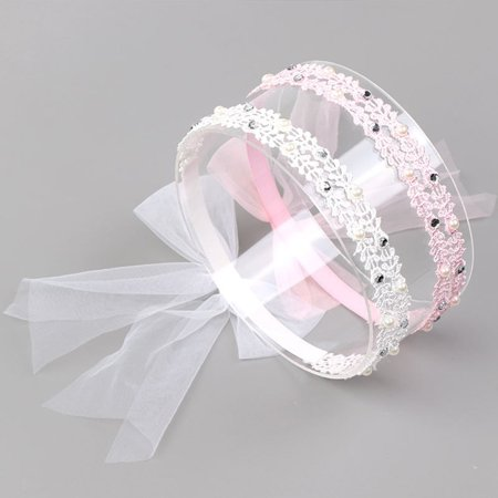 Brand New 70405 Girl Hair Accessories Lace Flower Headwear Cute Elastic Headband - image 3 of 7