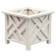 "Chippendale 14.75"" sq. x 13.25"" H Planter Box - White"