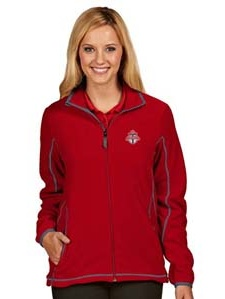 Toronto FC Womens Ice Polar Fleece Jacket (Color: Red) by