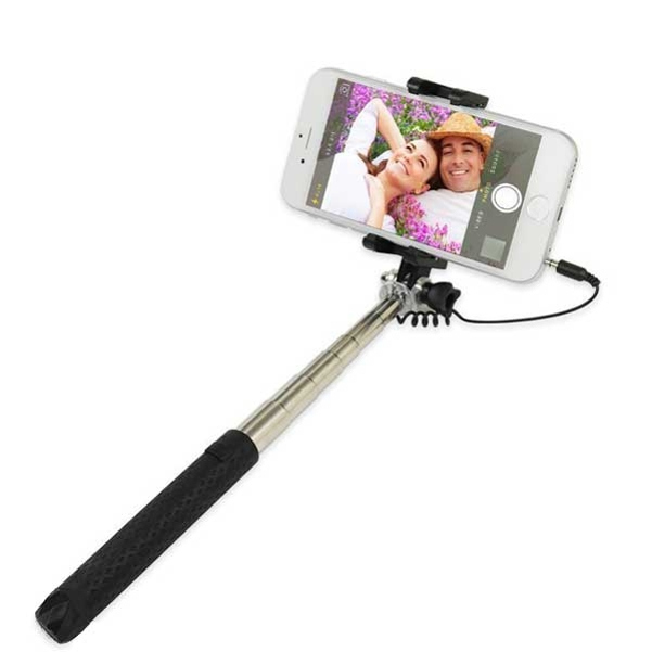 LG G7 ThinQ Compatible Ultra Compact WIRED Selfie Stick Monopod Remote Shutter