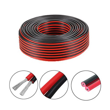 Wellite 20FT 16-2 AWG Gauge Electrical Wire, Low Voltage for Landscape on