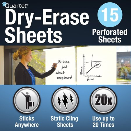 Dry Erase Sheets, 24-inch x 31 1/2-inch (85563), 40 foot roll contains 15 dry-erase sheets; perforated roll enables you to easily tear off in 31 1/2.., By