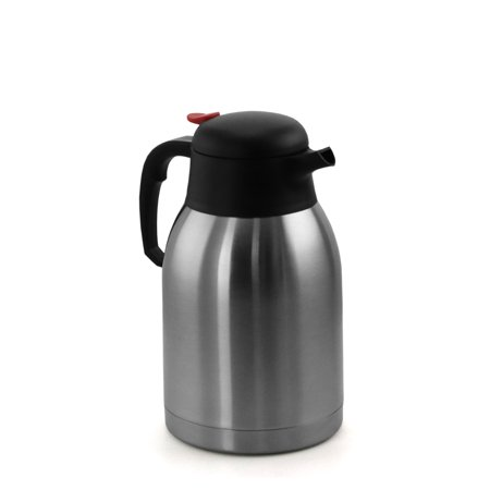 MegaChef 2L Stainless Steel Thermal Beverage Carafe for Coffee and Tea Stainless Coffee Carafe