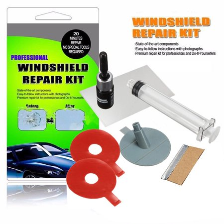 Car Auto Windscreen Windshield Glass Repair Kit Tool Diy For Chip Crack Star Bullseye