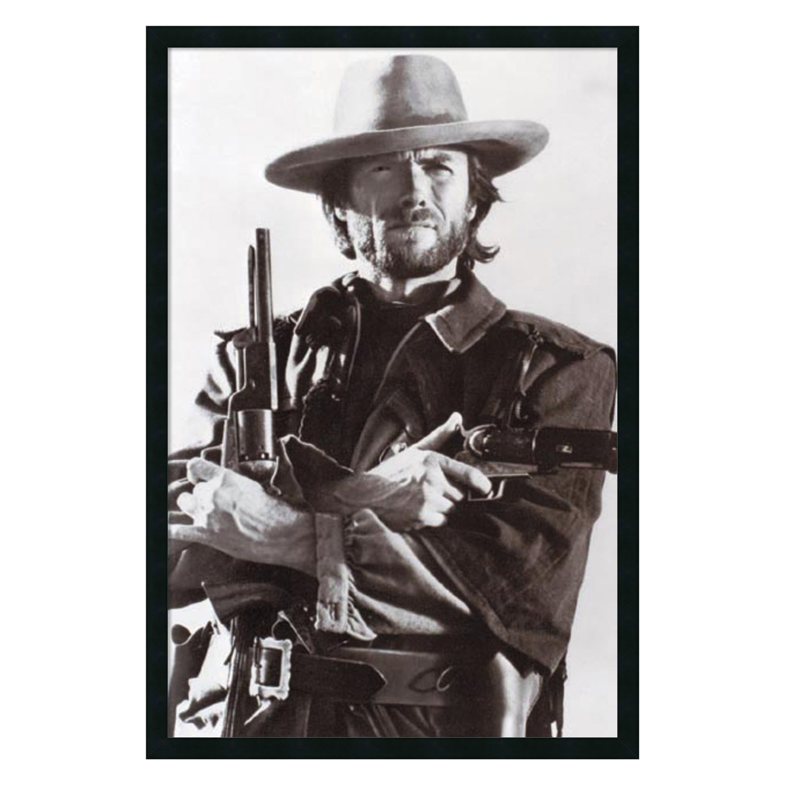 Clint Eastwood Framed Wall Artwork 25.41W x 37.41H in. by Amanti Art