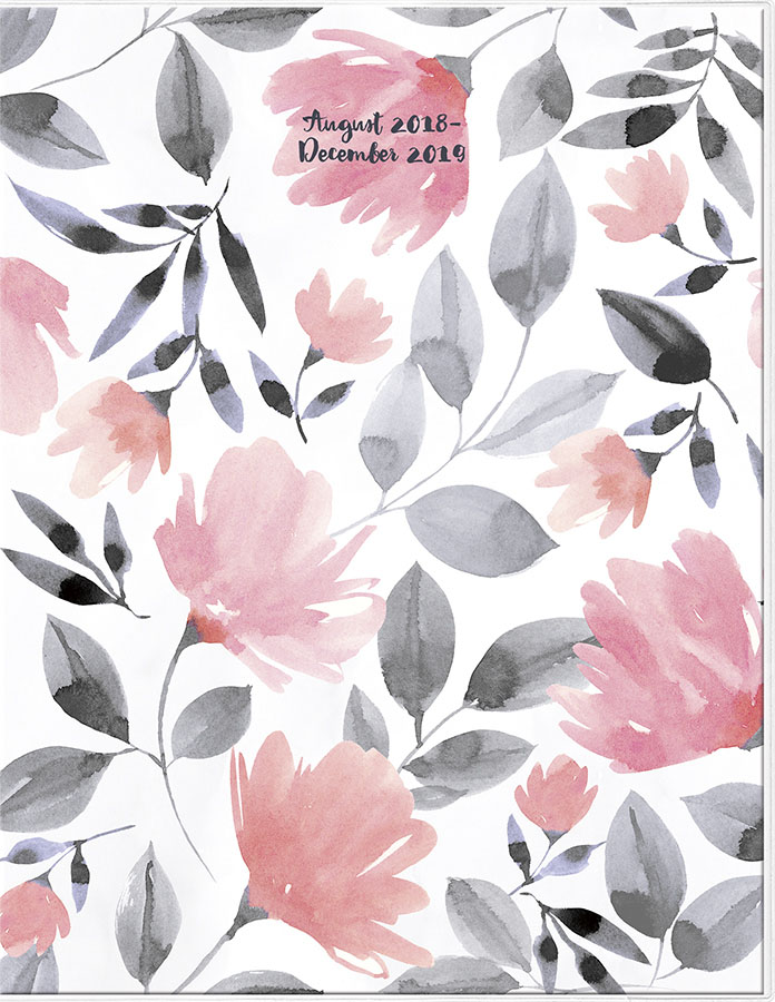 2019 Florals Monthly Planner by Trends International