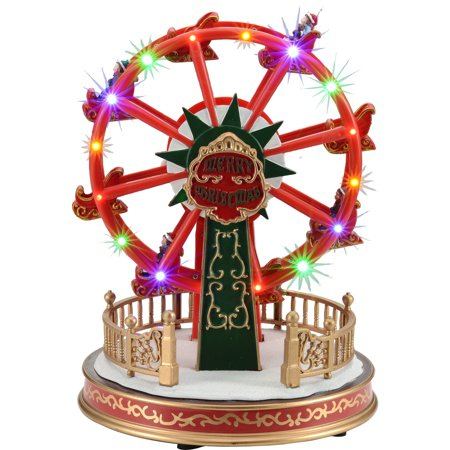holiday time 114 battery operated holiday ferris wheel christmas village - Christmas Ferris Wheel Decoration
