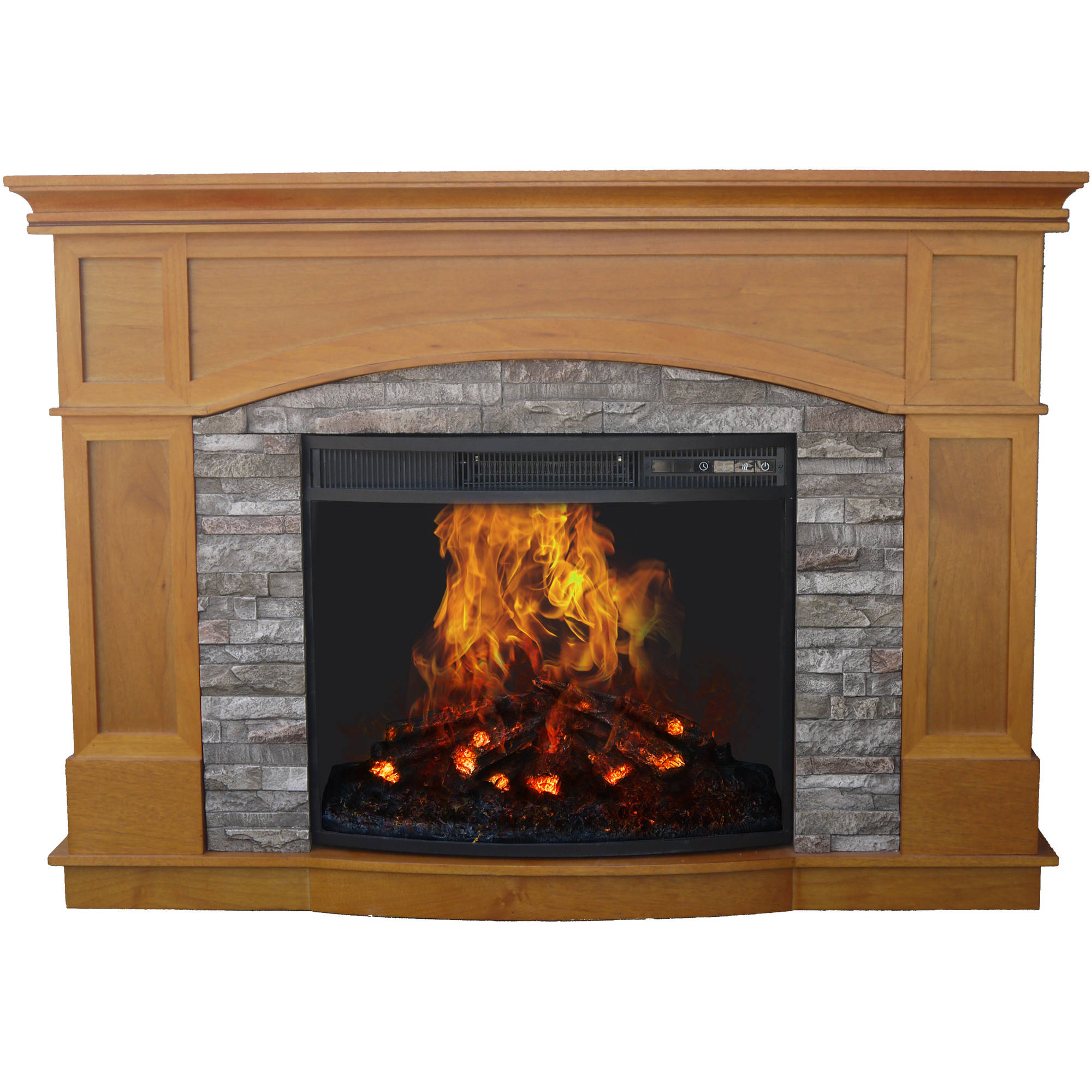 Decor Flame Electric Fireplace With 50 Mantle Walmart Com