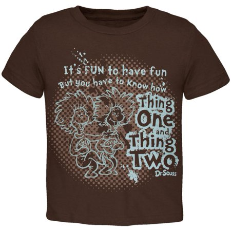 Dr. Seuss - Thing 1 And 2 Know How Toddler T-Shirt - Dr Seuss Thing 1 And Thing 2