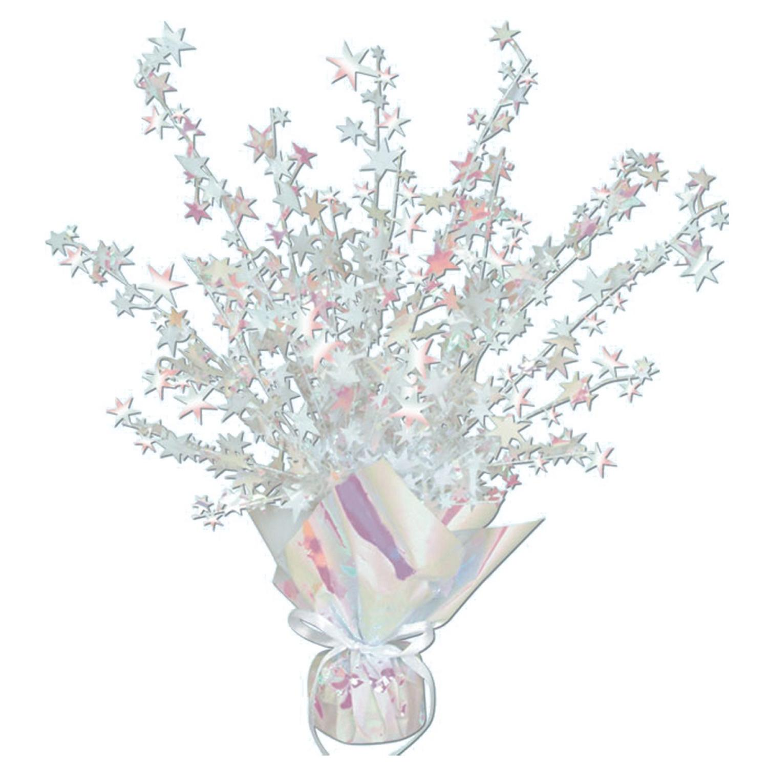 Club Pack of 12 Opalescent Star Gleam 'N Burst Centerpiece Party Decorations 15""