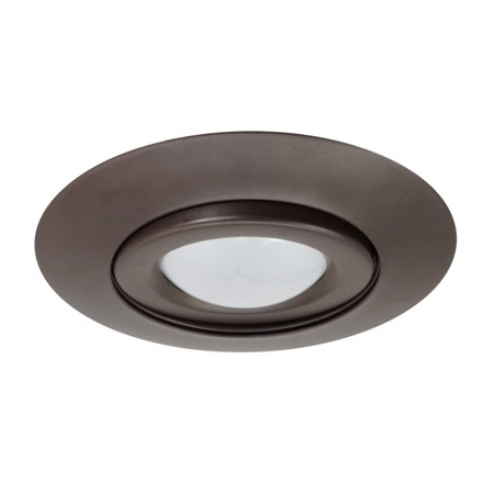 NICOR Lighting 6-Inch Gimbal Ring Recessed Trims, Oil-Rubbed Bronze (17558OB) 7' Aperture Recessed Lighting