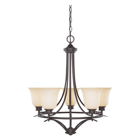 Modular Dark Bronze Chandelier - Designers Fountain 96985 Montego 5 Light Chandelier in oil-rubbed bronze finish