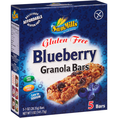Sam Mills Gluten Free Blueberry Granola Bars, 1 oz, 5 count