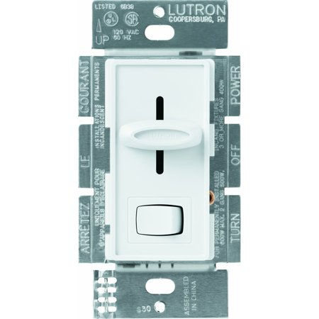 S-603P-WH Skylark 3-Way Dimmer with On/Off Switch, 600-watt, White By Lutron Ship from US