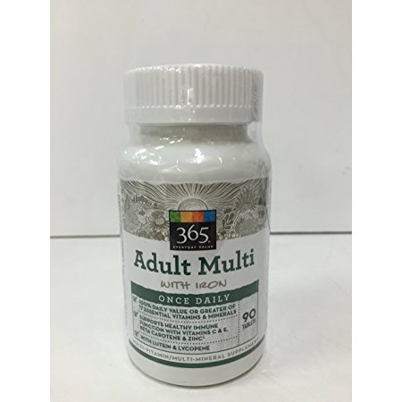 365 by Whole Foods Market Adult Multi Once Daily with Iron 90 - Foods 90 Tablets