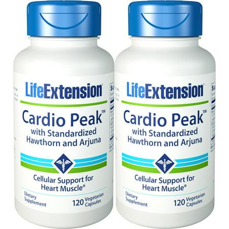 Life Extension Cardio Peak With Standardized Hawthorn And Arjuna 120 Vegetarian Capsules 2 (Cardio Life)