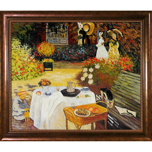Wildon Home  The Luncheon by Claude Monet Framed Original Painting