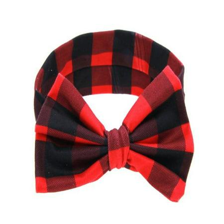 (Baby Printing Bowknot Rabbit Ears Elastic Cloth Headband BK)