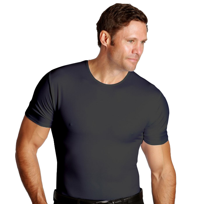 Crew Neck Men's Firming Compression Tight Under Shirt