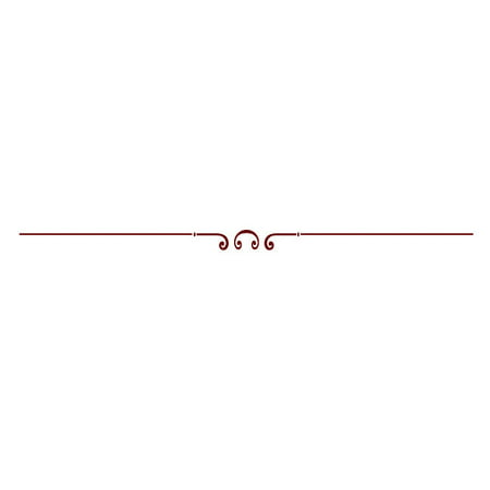 Vinyl Scroll Designs Medium Dark Red