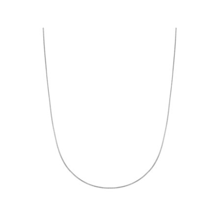 Sterling Silver Reflections Snake - 925 Sterling Silver Round 1mm Smooth Thin Snake Chain