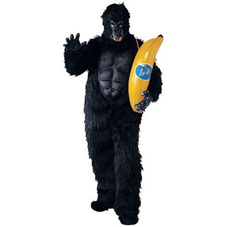 Adult Mascot Quality Gorilla Halloween Costume with Chest Piece - Reese Pieces Halloween Size