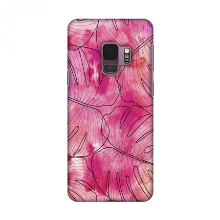 outlet store fd5ab b24a6 Samsung Galaxy S9 Case, Ultra Slim S9 Case Handcrafted Designer Hard Shell  Snap On Case Printed Back Cover for Samsung Galaxy S9 - Tropic Paint - Pink