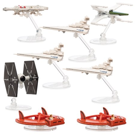 Star Wars Hot Wheels (Set Of 8) Disney Star Wars Toys, Diecast Ships, Collectibles Of The Original Concept Millennium Falcon, X-Wing, Tie Fighter, Landspeeder, Star Destroyer](Millennium Falcon Rc)