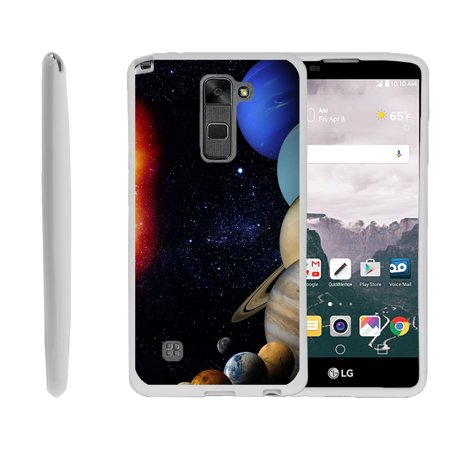 LG G Stylo 2, LG G Stylus 2 LS775, Flexible Case [FLEX FORCE] Slim Durable TPU Sleek Bumper with Unique Designs - Planets Around the Sun