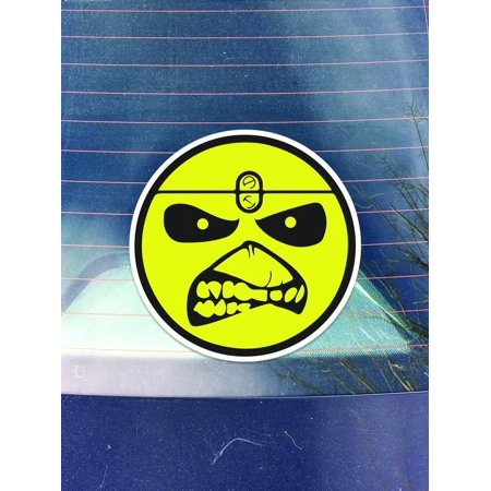 Iron Maiden Banners - Iron Maiden Vinyl Decals Sticker ( Two Pack ) | Cars Trucks Vans Walls Laptops Cups | Printed | 2 - 4 Inch Decals | KCD963