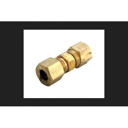 JMF 5/8 in. Dia. x 1/2 in. Dia. Compression To Compression To Compression Yellow Brass Union ()