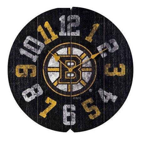 Boston Bruins Vintage Style Round Clock