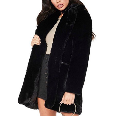 Women Luxury Fluffy Fleece Faux Fur Soft Oversized Jacket Winter Warm Coat Womens Faux Fur Coats