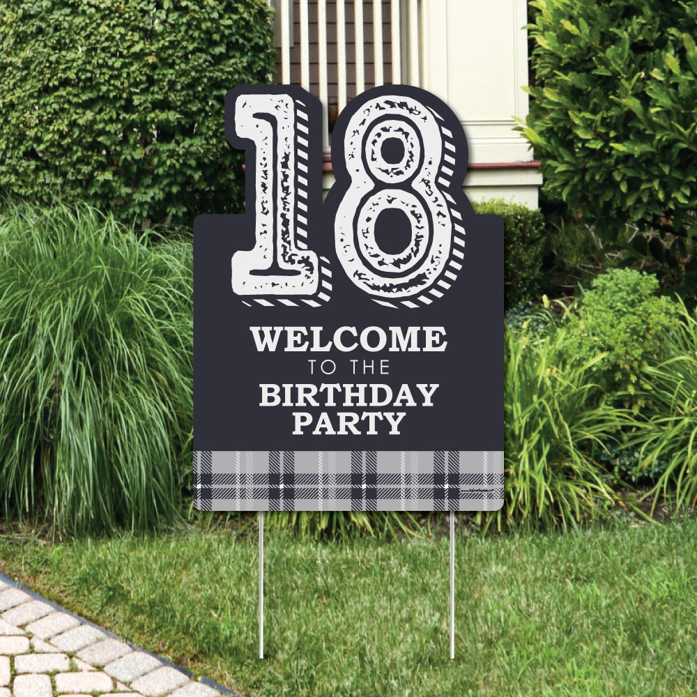 18th Milestone Birthday - Time To Adult - Party Decorations - Birthday Party Welcome Yard Sign