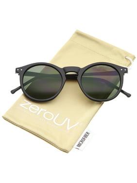 816c194b6 Product Image zeroUV - Retro Horn Rimmed Keyhole Nose Bridge P3 Round  Sunglasses 49mm - 49mm